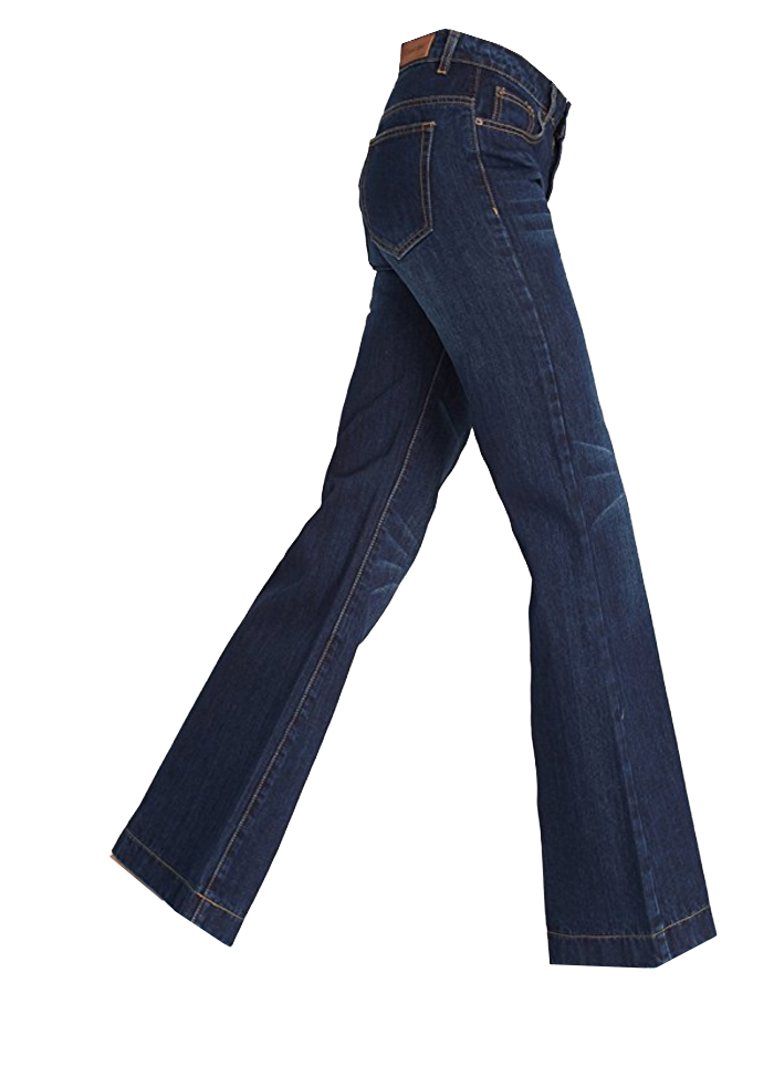 Woodstock Crop Dark Denim Ankle Flares