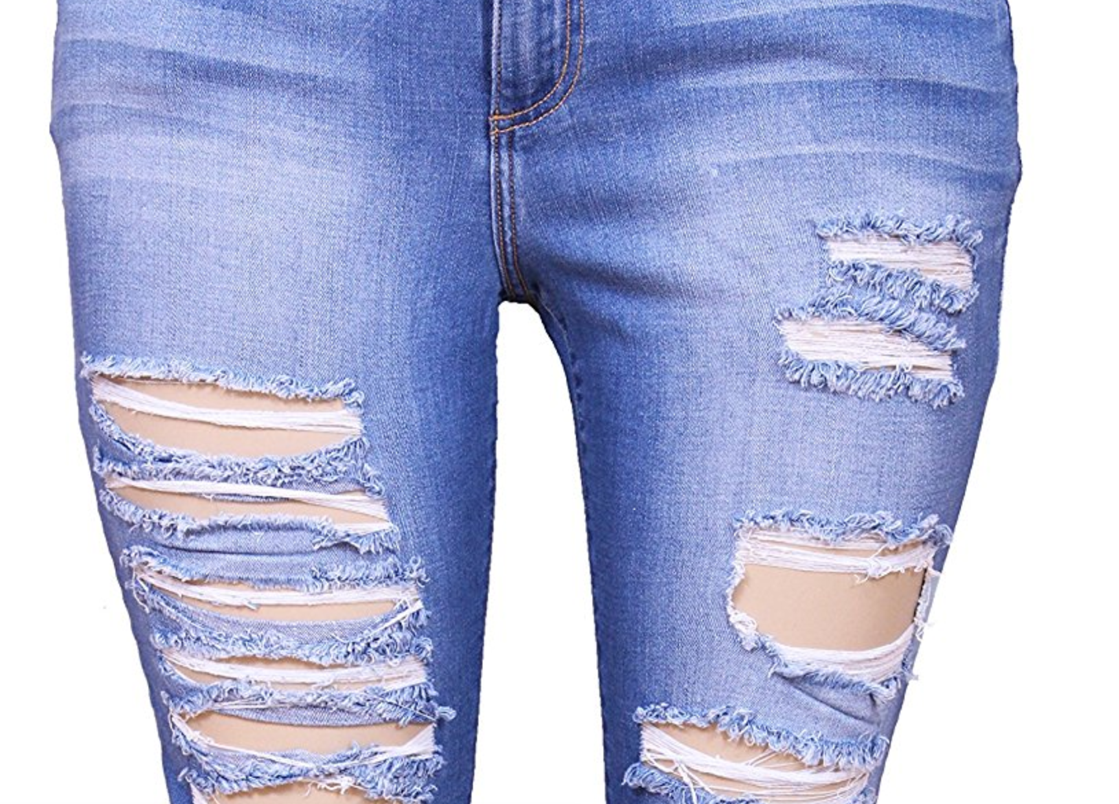 Ultimate Destroyed Faded Skinny Jeans (Sizes 18 - 22)