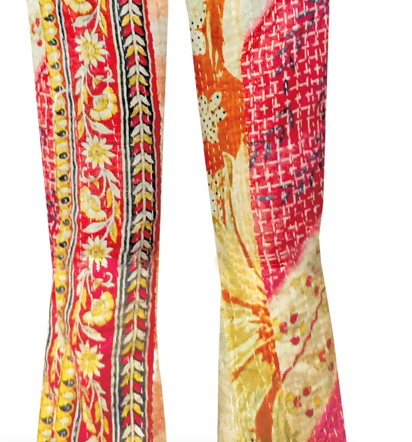 "Redesigned Hand-made Saris by Mark and Estel- ""Rockstar Flared Woodstock Bellbottoms"" (Several Sizes)"
