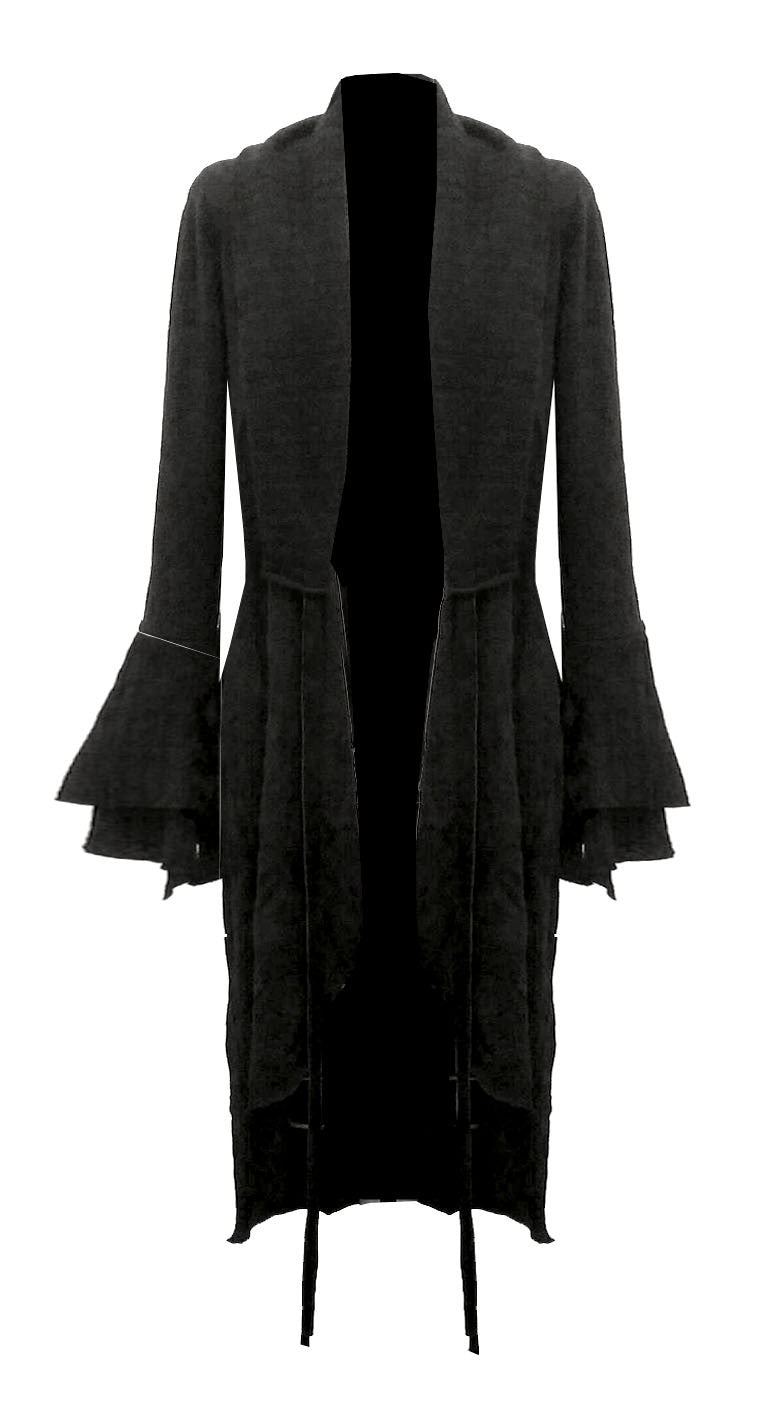 Mark and Estel Leather Cotton Cashmere Duster QUEEN Coat
