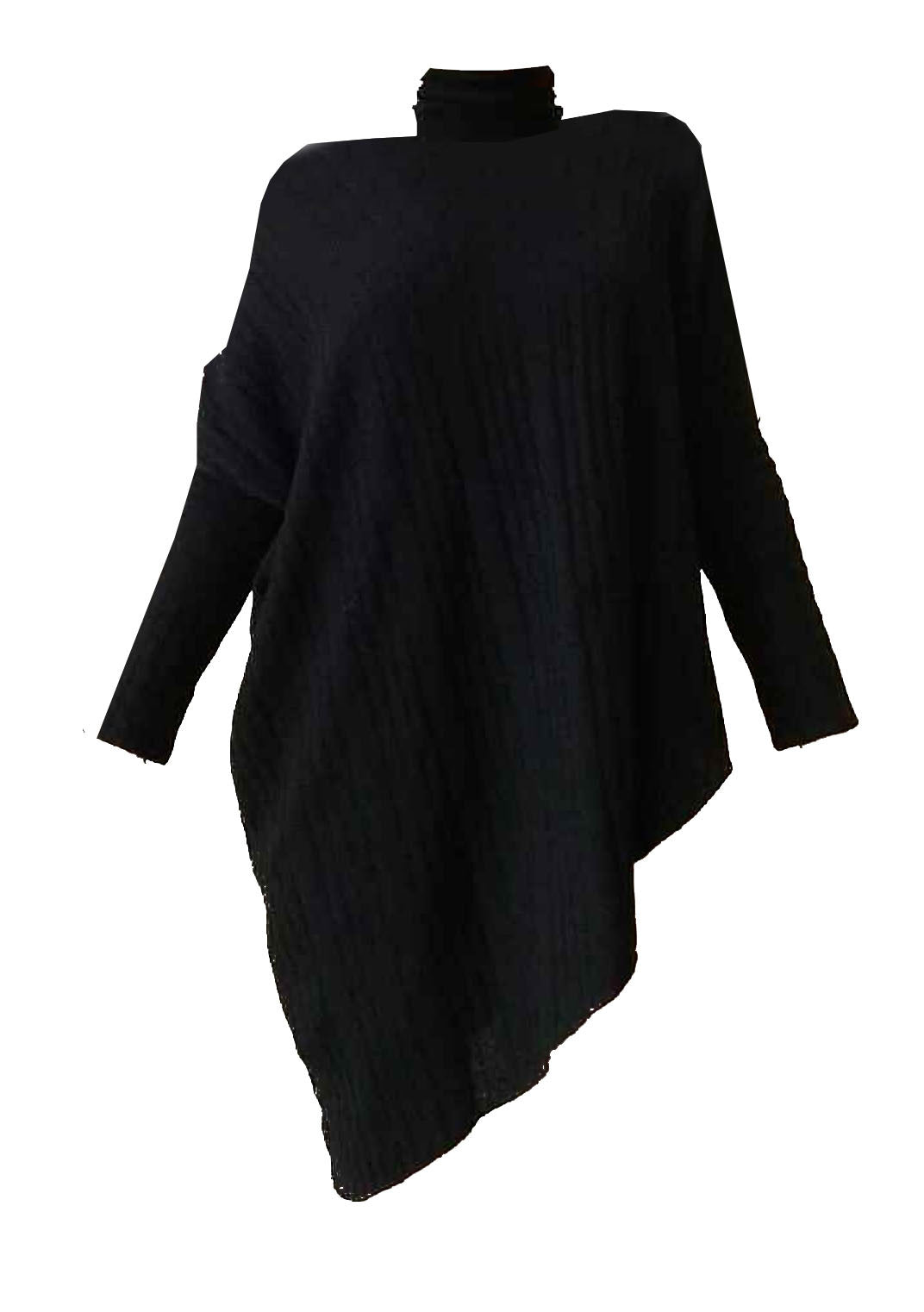 Mark and Estel Cashmere Turtleneck Asymmetrical Sweater- All Sizes