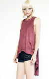 Mark and Estel / Drop Armhole High-Low Swing Tank