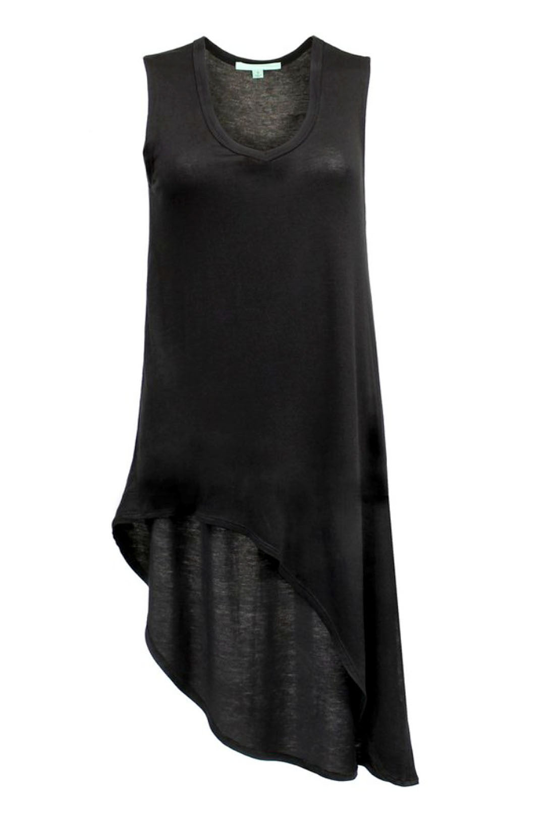 Courtney's Asymmetrical Slit Tunic in Black