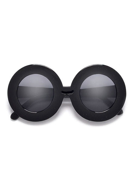 Bardot Oversized Tortoise Circle Sunglasses in Black