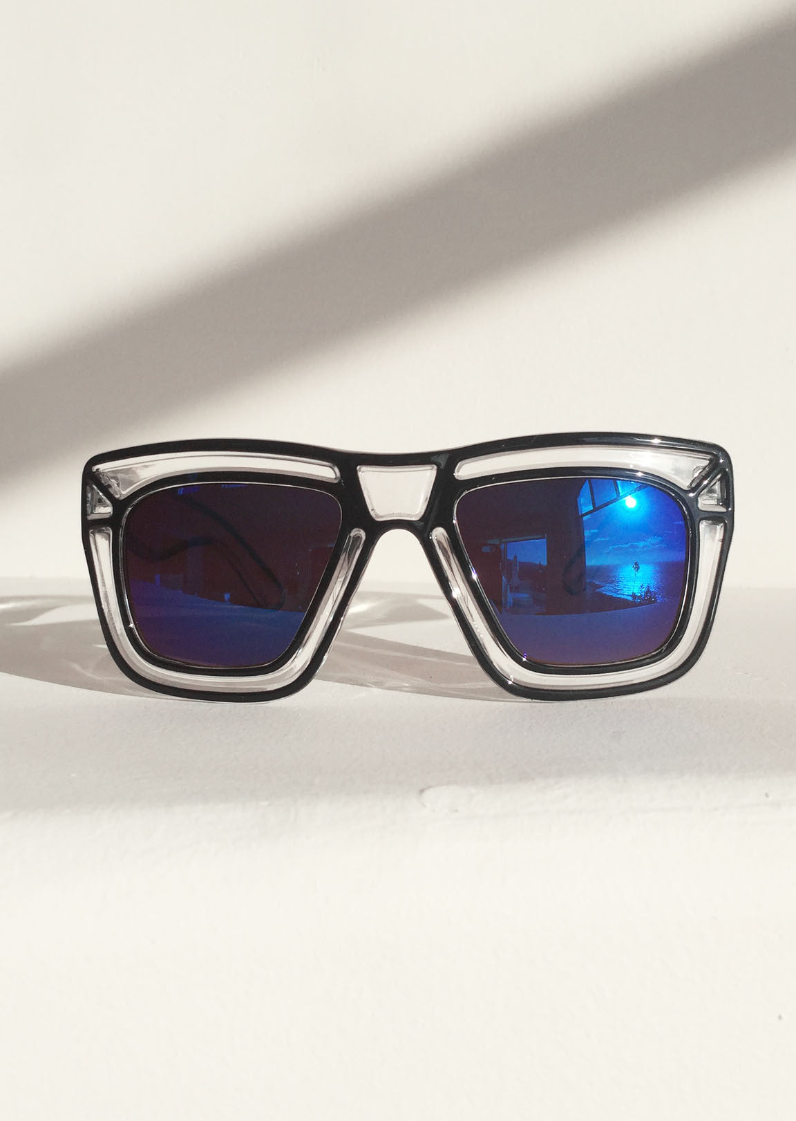 Pop Art Shades with BLUE Mirrored Lenses