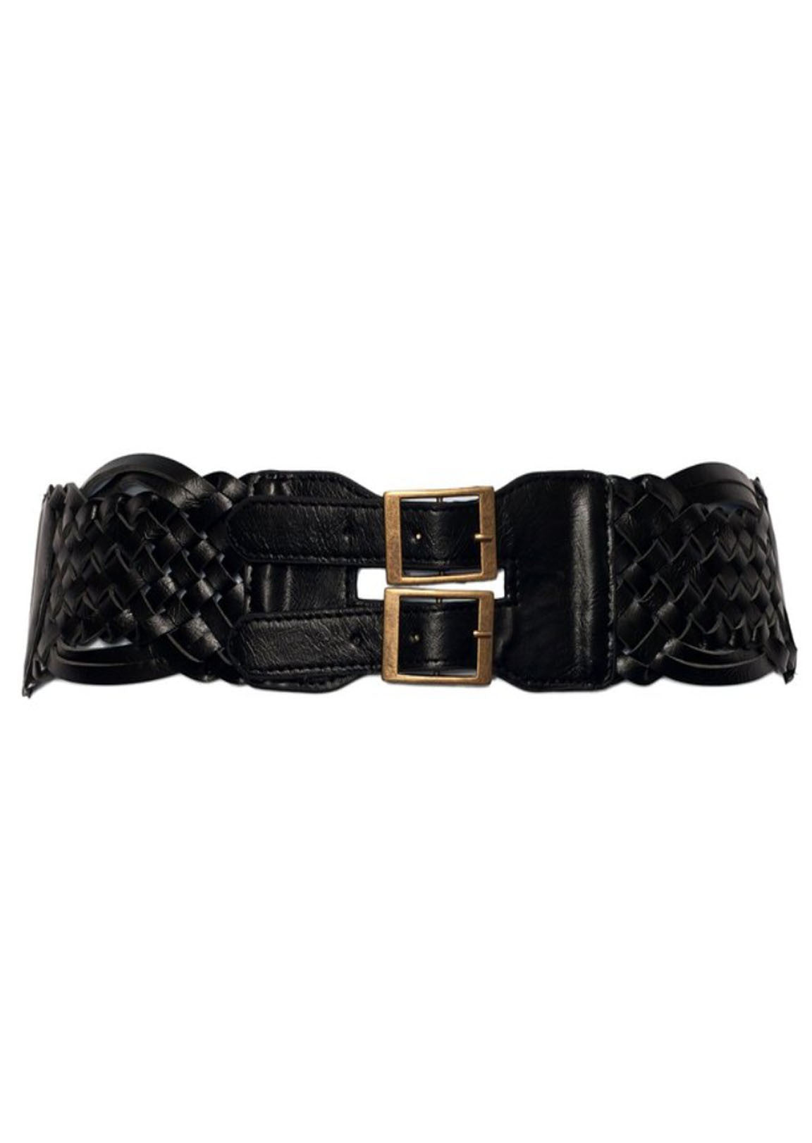 Black Braided Belt (34 - 42 inch waist)