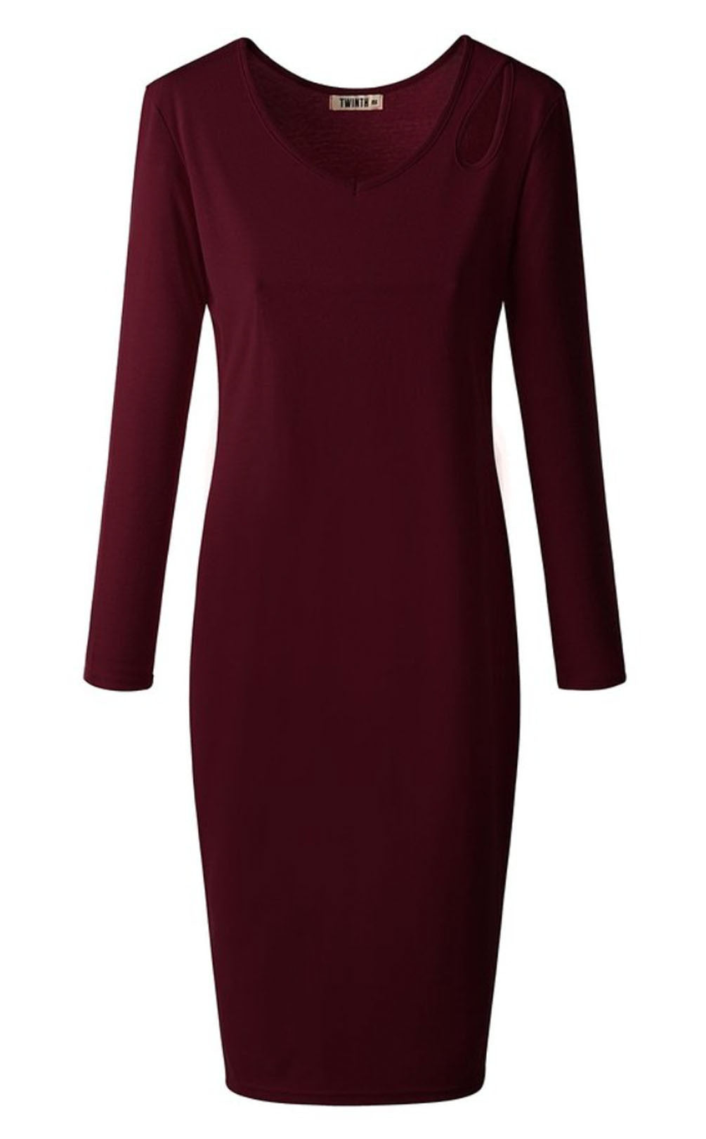 The Cut-Out Courtney Dress in Burgundy