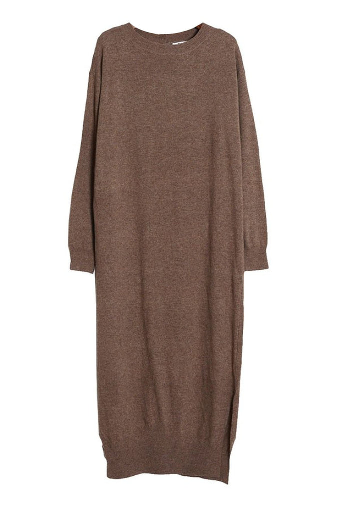 The Amazing Long Sweater in Camel and Blonde (Sizes 4 - 8)