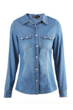 Denim YES Blouse (X-Small - X-Large)