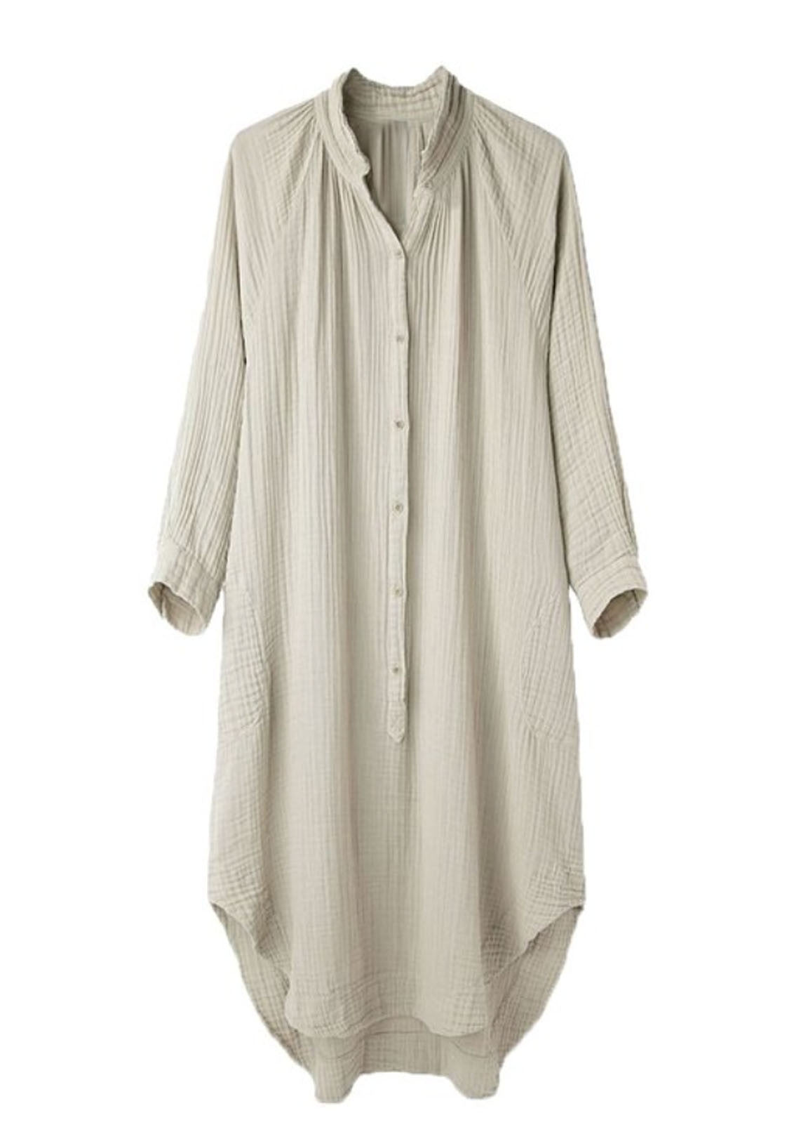 Natural Gauze Tunic Dress (Sizes XL)