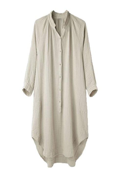 Natural Gauze Tunic Dress Small