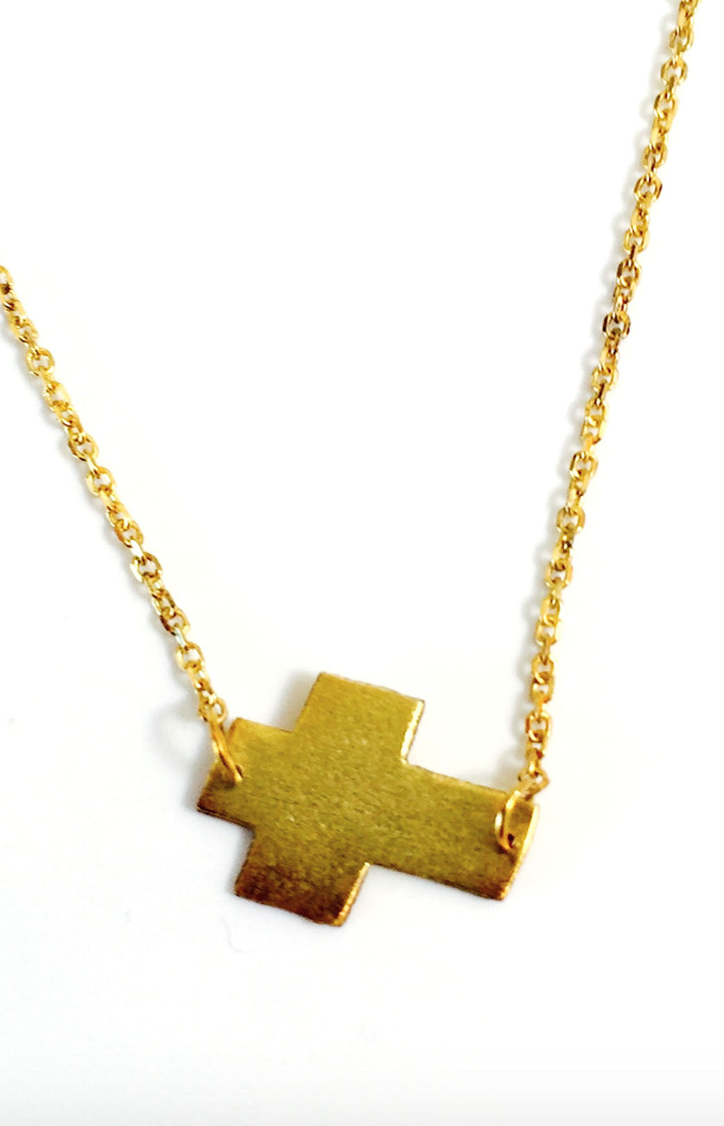 Mark and Estel X Rossmore Cross Necklace in Black, Gold, or Silver