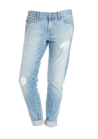 Destroyed High Waisted White Skinny Jeans