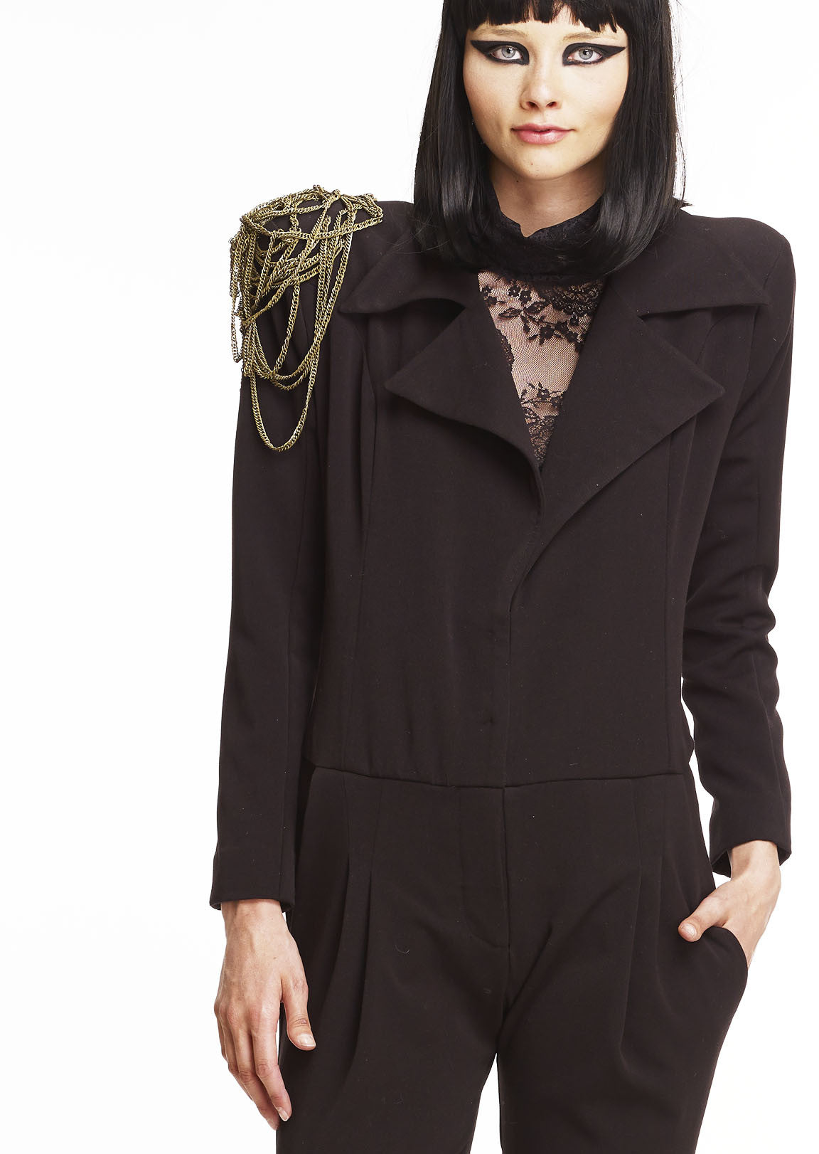 Mark and Estel Collection Chain Jumpsuit