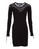 Black Lace Sweater Dress in Medium and X-Large Only
