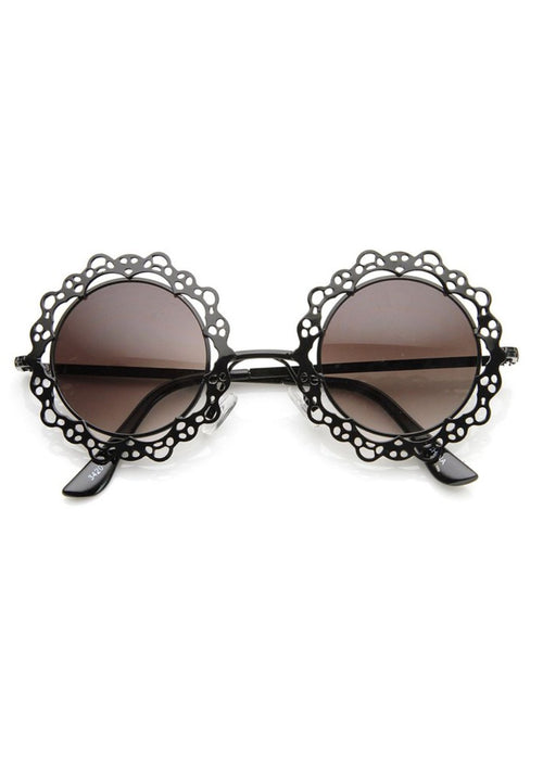 Flower Power Metal Cut-Out Sunglasses