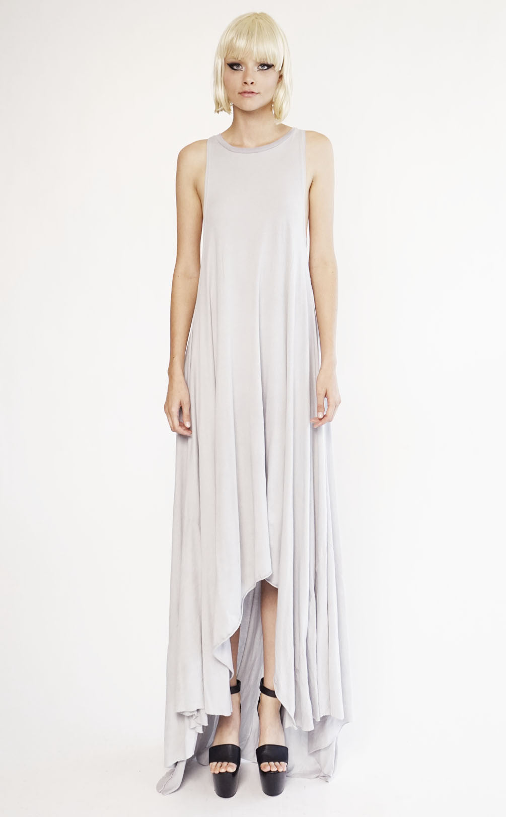 Sample-Sale Drop Armhole Gown