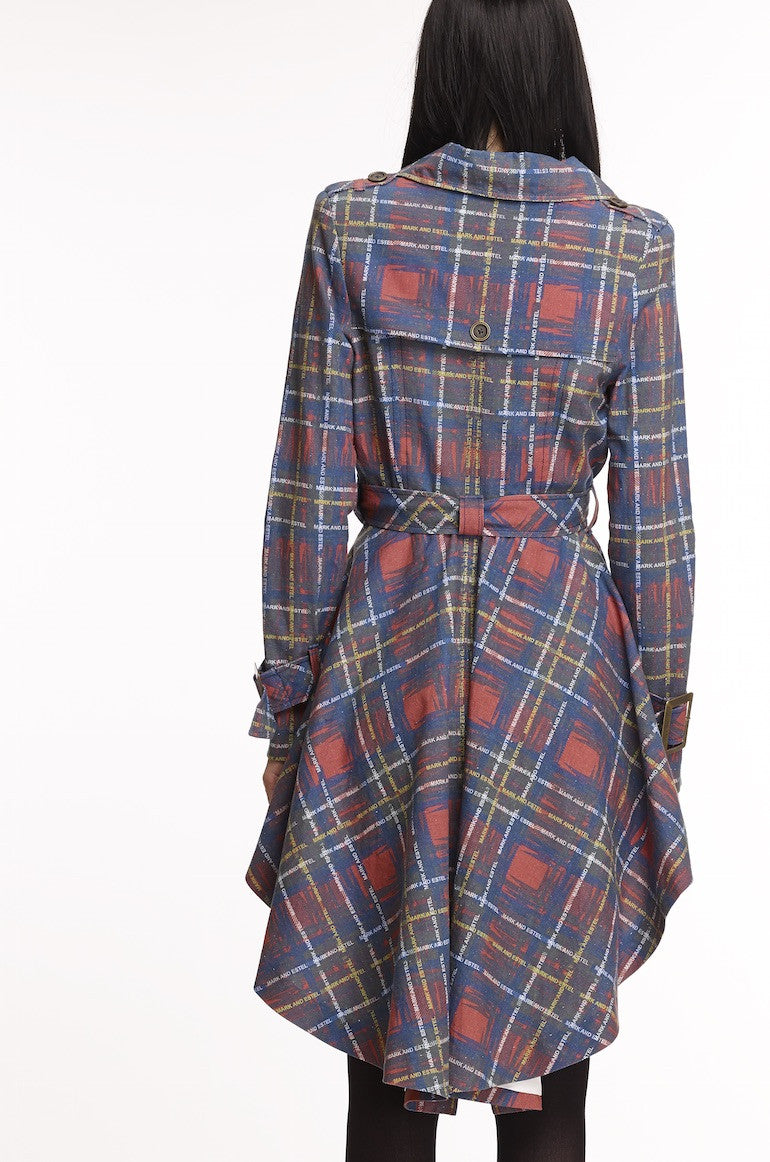 Mark and Estel Collection Plaid Trench