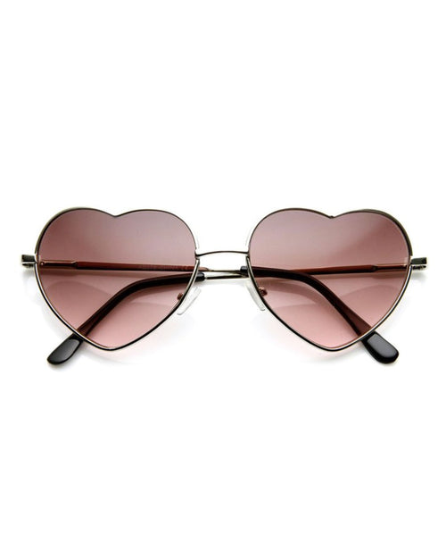 Heart Shaped Wire Frame Sunglasses