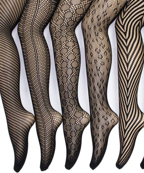 Go-To French Lace Tights (pack of 6 in sizes XS - 4XL)
