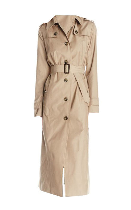 Annie's Rockstar Maxi Trench Coat in Camel (X-Small - XXLarge)