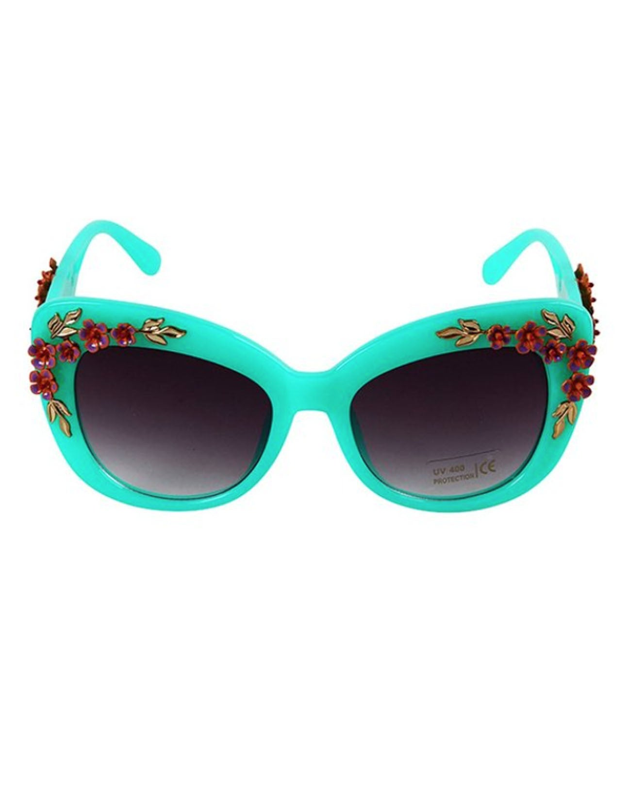 Turquoise Flower Power Rockstar Shades