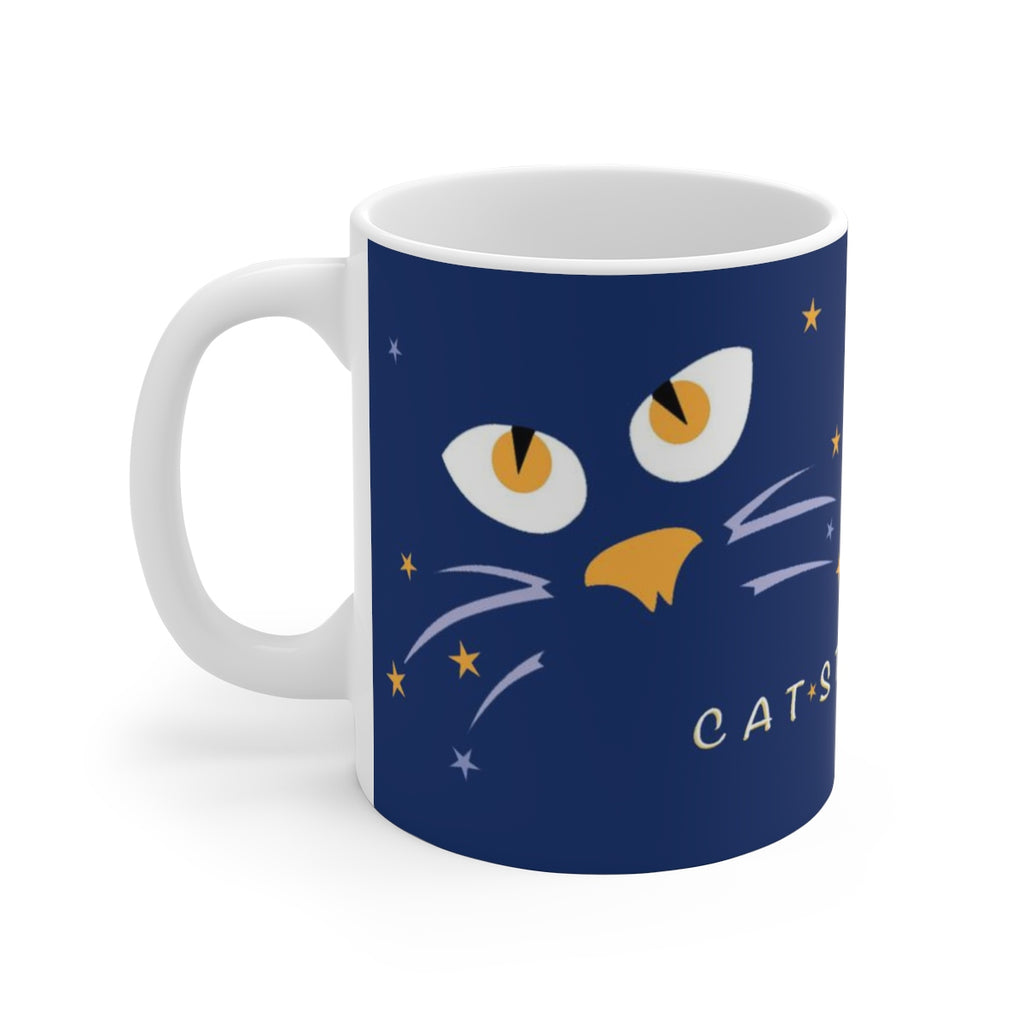 Cat-Struck Ceramic Mug