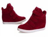 Womens Trendy Velcro Wedge Sneaker