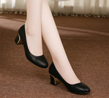 Womens Sleek Comfy Low Heels
