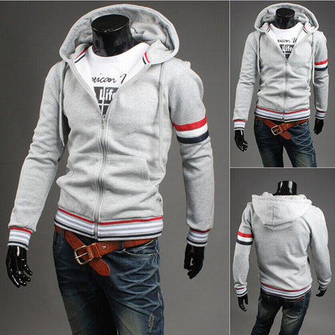 Mens Colored Armband Hoodie