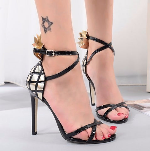Beautiful Cross Strap Ankle Party Heels