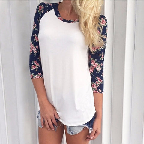 Beautiful Floral Print Sleeve Casual Shirt