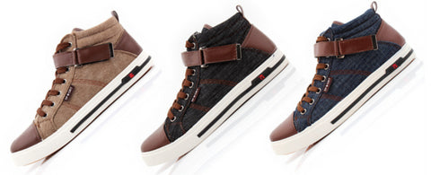 Mens Casual High Top Canvas Shoes