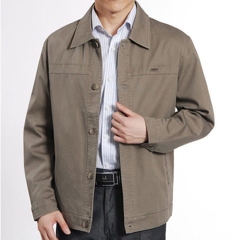 Mens Casual Button Up Jacket
