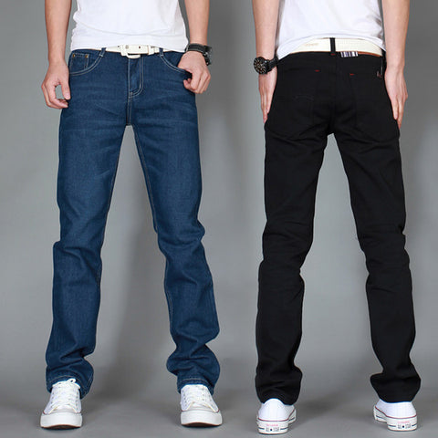Mens Casual Long Straight Jeans