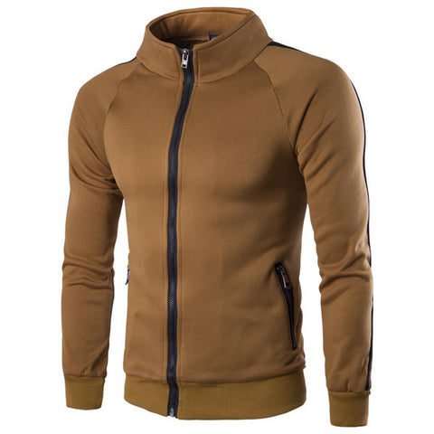 Mens Casual Zip-Up Sweater