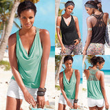 Charming Summer Back Lace Tank Top