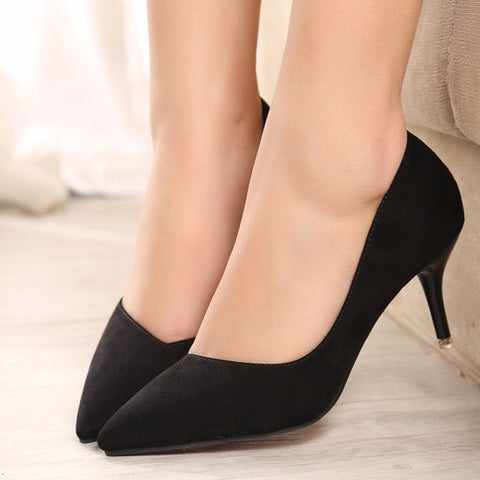 Classic Point Toe Trendy Work Kitten Heels