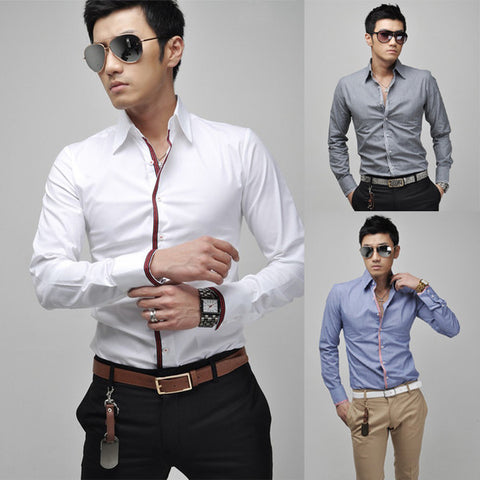 Mens Cool Colored Front Dress Shirt