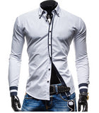 Mens Colored Outline Dress Shirt