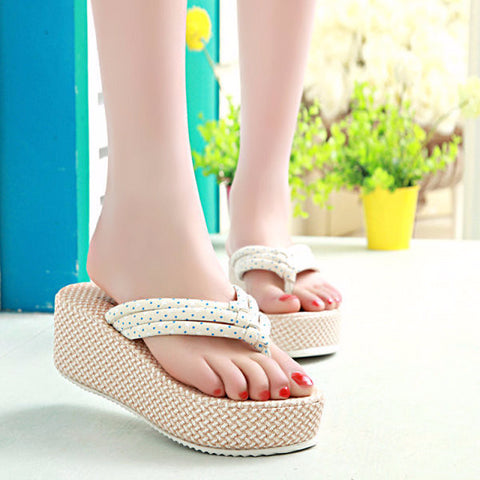Cool Casual Stylish Print Platform Sandals