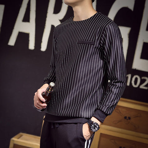 Mens Cool Vertical Stripe Sweater