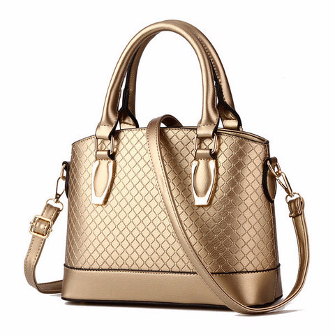 Trendy Crosshatch Casual Everyday Handbag