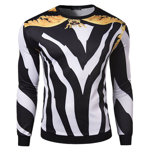 Mens Slim Edgy Long Sleeve Shirt