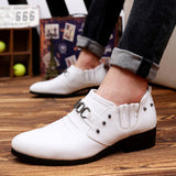 Mens Faux Leather Pointed Shoes