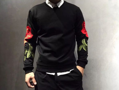 Mens Cool Flower Graphic On Sleeves