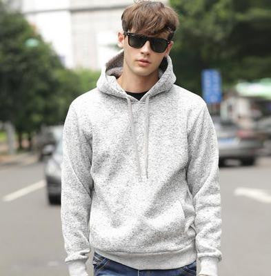 Mens Fine Cotton Pullover Hoodie