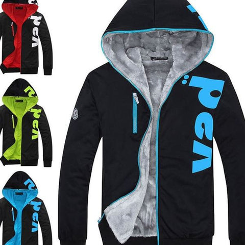 Mens Winter Zipper Hoodie