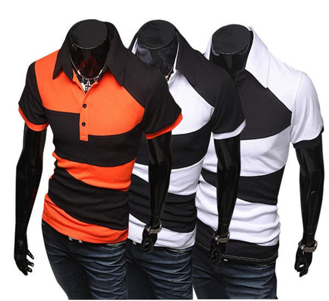 Mens Trendy Jagged Polo