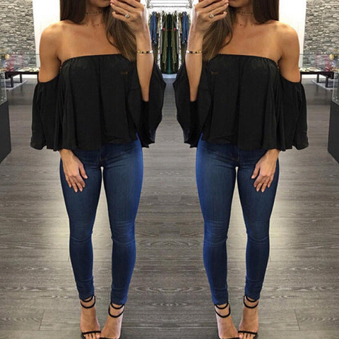 7752aa349a96c4 Womens Stylish Off Shoulder Blouse Top – ShoeSity